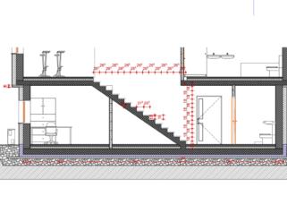 pzi načrti arhitekture stopnice